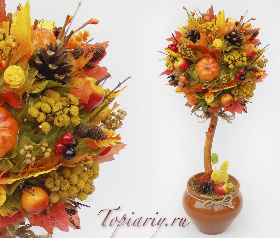 Осенний топиарий своими руками фото 42